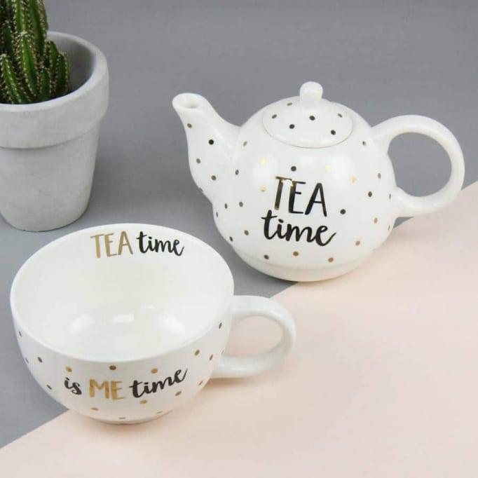 """Τσαγιέρα με φλυτζάνι """"tea time"""""""