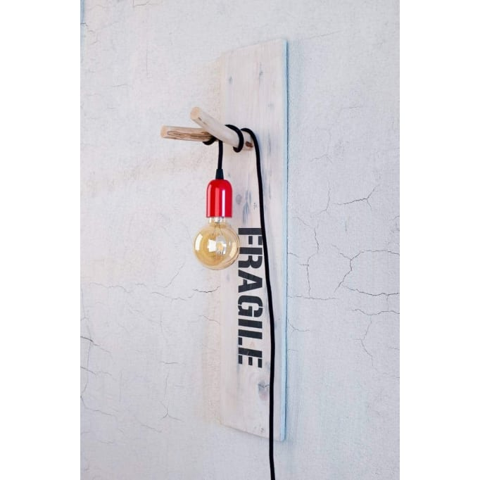 Fragile ξύλινη industrial απλίκα τοίχου