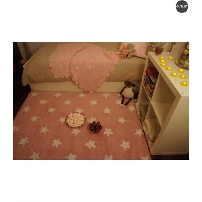 Stars pink-white 120x160