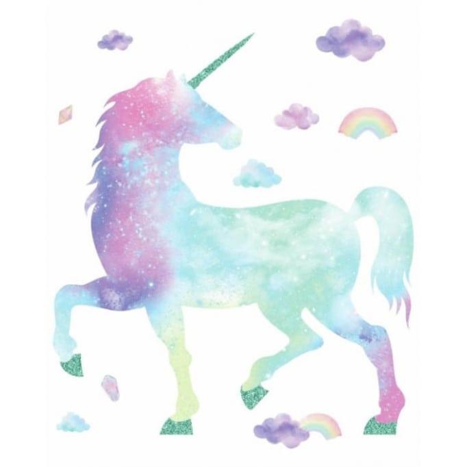 Αυτοκόλλητα τοίχου Galaxy Unicorn
