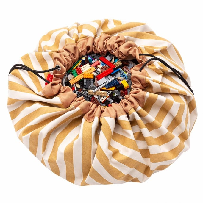 PLAY&GO στρώμα παιχνιδιού - τσάντα 2 σε 1 Stripes Mustard