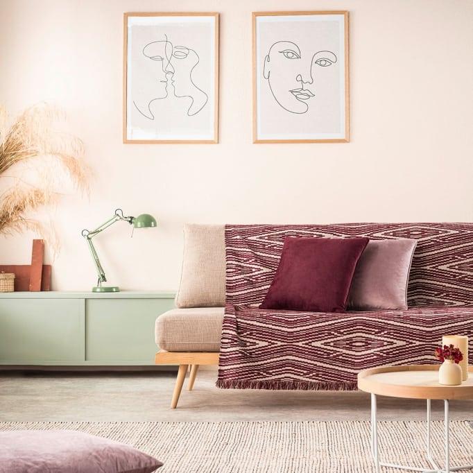 Ριχτάρι καναπέ-πολυθρόνας streamy cherry Gofis