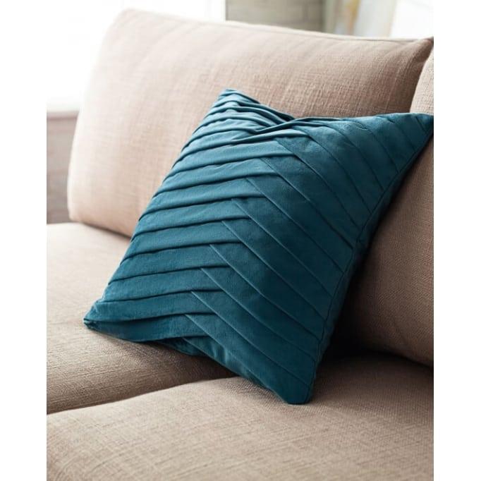 Διακοσμητικό μαξιλάρι Milena μπλε Gofis 43Χ43εκ