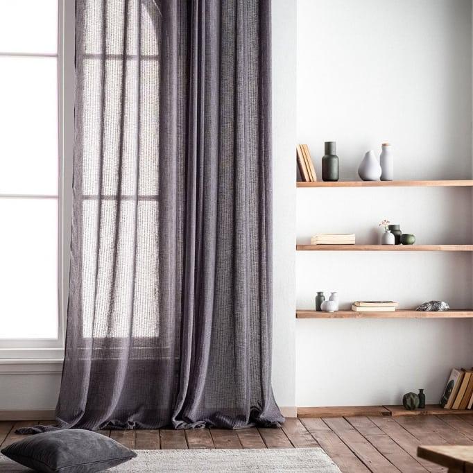 Κουρτίνα με σιρίτι γκρι Irene Gofis Home