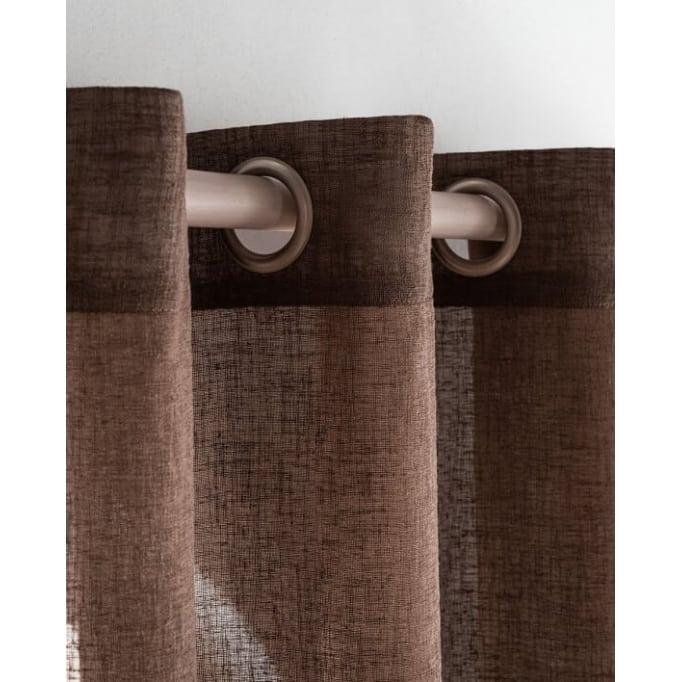 Κουρτίνα Με τρουκς Combe sangria GOFIS