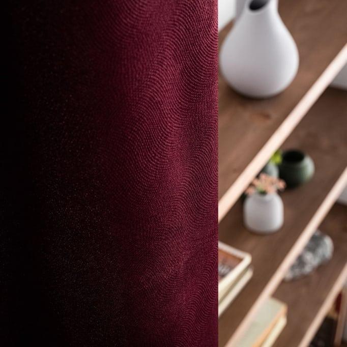 Κουρτίνα Με Τρουκς Gofis Home Loriane μπορντώ 956/19