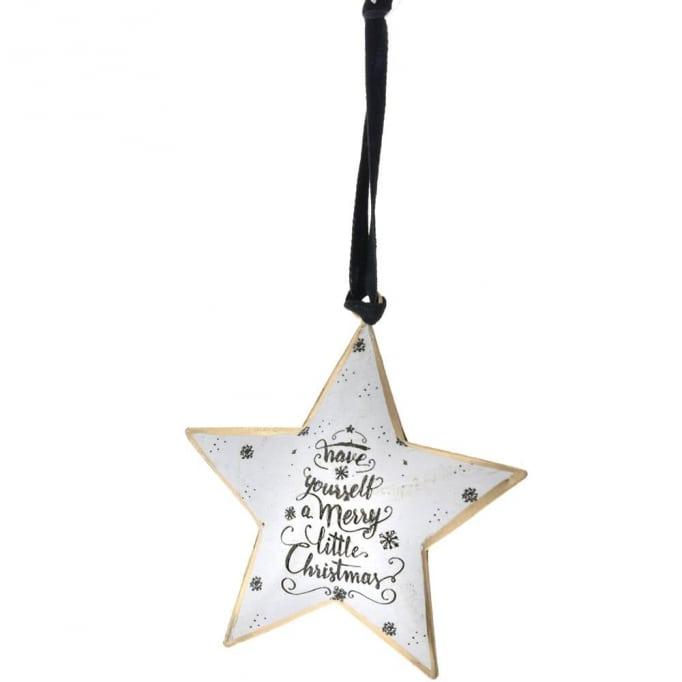Μεταλλικό κρεμαστό αστέρι xmas 18Χ14εκ