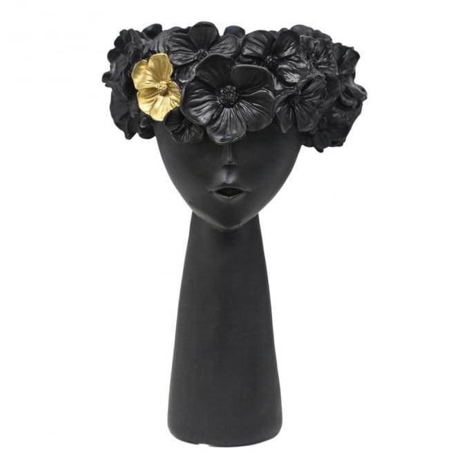 Κασπώ Πρόσωπο Παιδάκι Λουλούδια-Μαύρο 19Χ15Χ30εκ