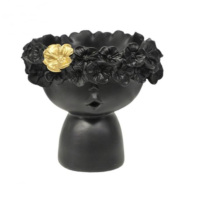 Κασπώ Πρόσωπο Παιδάκι Λουλούδια-Μαύρο 16Χ14Χ14εκ