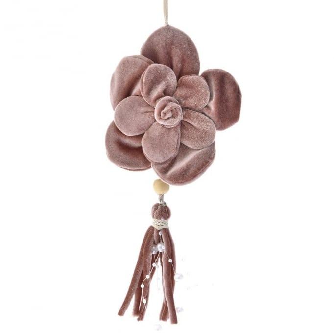 Κρεμαστό βελούδινο λουλούδι ροζ