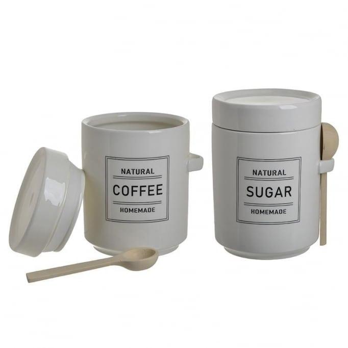 Σετ δοχεία καφέ-ζάχαρη με μεζούρα 6-60-690-0014