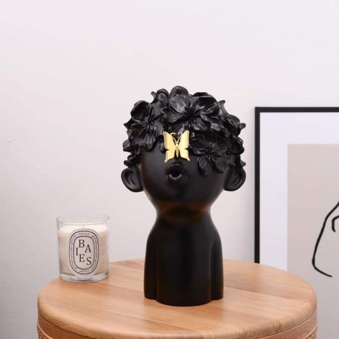 Κασπώ Πρόσωπο Παιδάκι Λουλούδια-Πεταλούδα Μαύρο