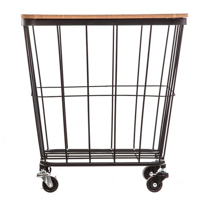 Βοηθητικό τραπέζι σαλονιού Lyle μαύρο-oak 40,5x39x43.5εκ