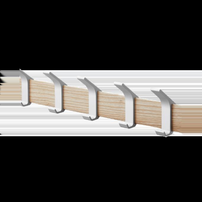 Κρεμάστρα τοίχου με μεταλλικούς γάντζους Yamazaki