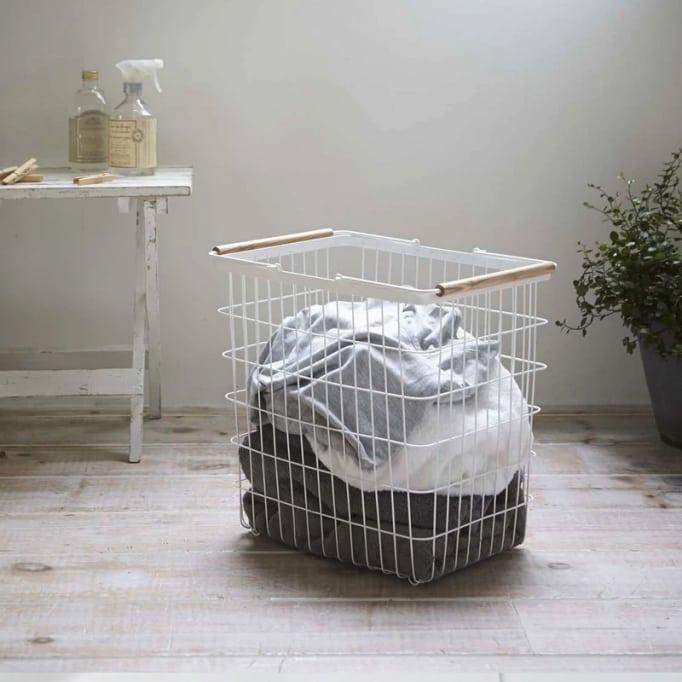 Καλάθι Για Άπλυτα Μεταλλικό Medium Λευκό