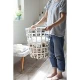 Καλάθι Για Άπλυτα Μεταλλικό Λευκό