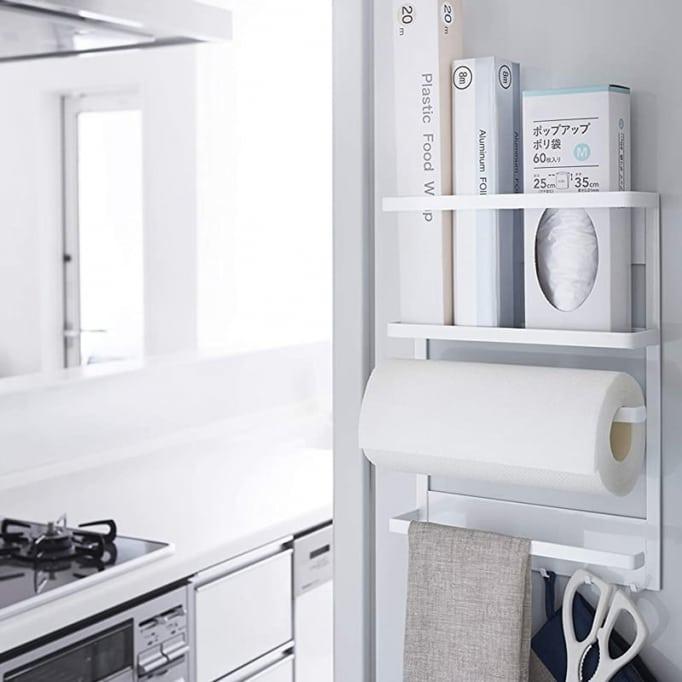 Βάση Για Χαρτί Κουζίνας Αποθηκευτική Μαγνητική Yamazaki Λευκό 24.5cm