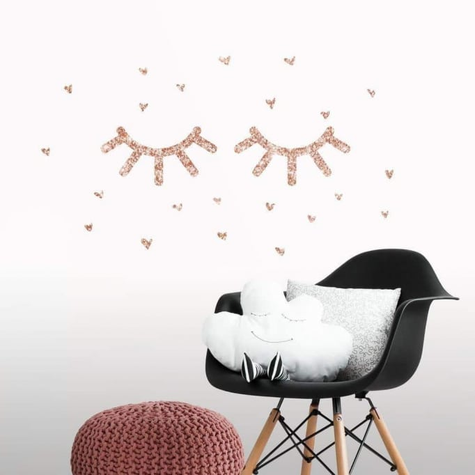 Αυτοκόλλητα τοίχου βλεφαρίδες