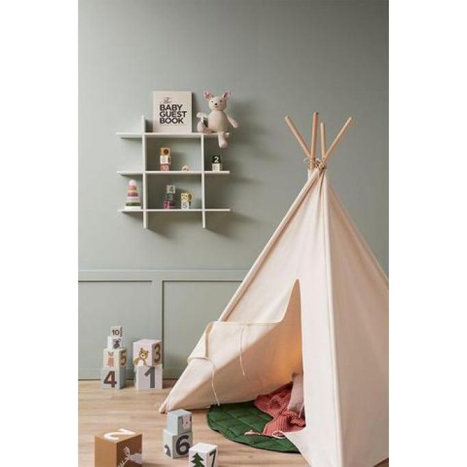 Ξύλινο ράφι Kids Concept απαλό πράσινο