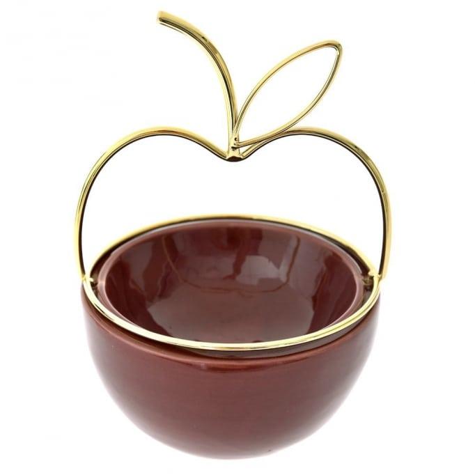 Κεραμικό διακοσμητικό μπολ μήλο 13Χ19εκ