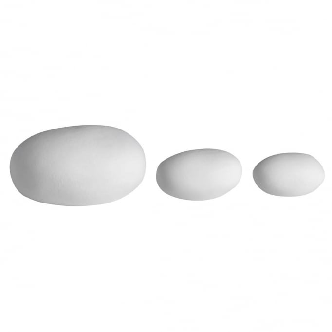Βότσαλα από πορσελάνη led σετ3