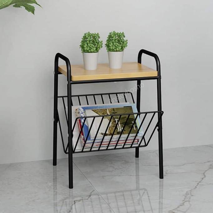 Βοηθητικό τραπέζι με θήκη για περιοδικά