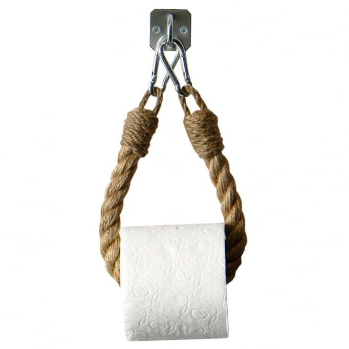 Κρεμαστή θήκη για χαρτί από σχοινί
