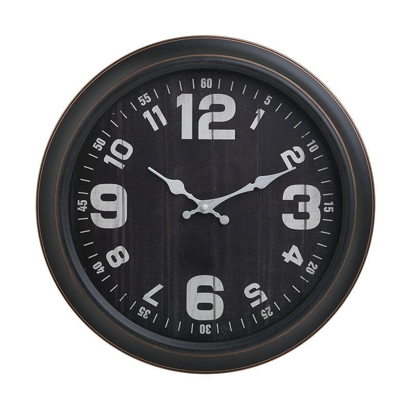 Ρολόι Τοίχου 3-20-284-0165 inart Πλαστικό Μαύρο/Ιβουάρ 40x5x40cm