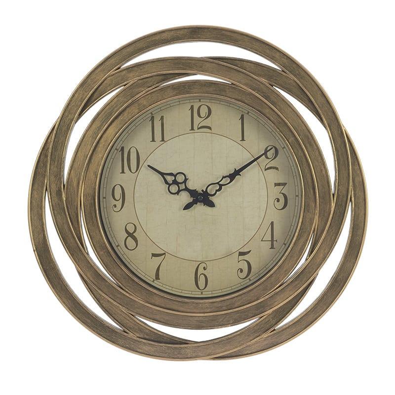 Ρολόι Τοίχου 3-20-828-0064 inart Πλαστικό Χρύσο 51x6x51cm