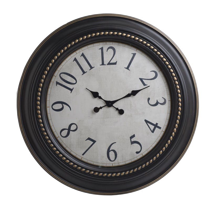 Ρολόι Τοίχου 3-20-828-0086 inart Πλαστικό Καφέ/Mπεζ 76x6x76cm