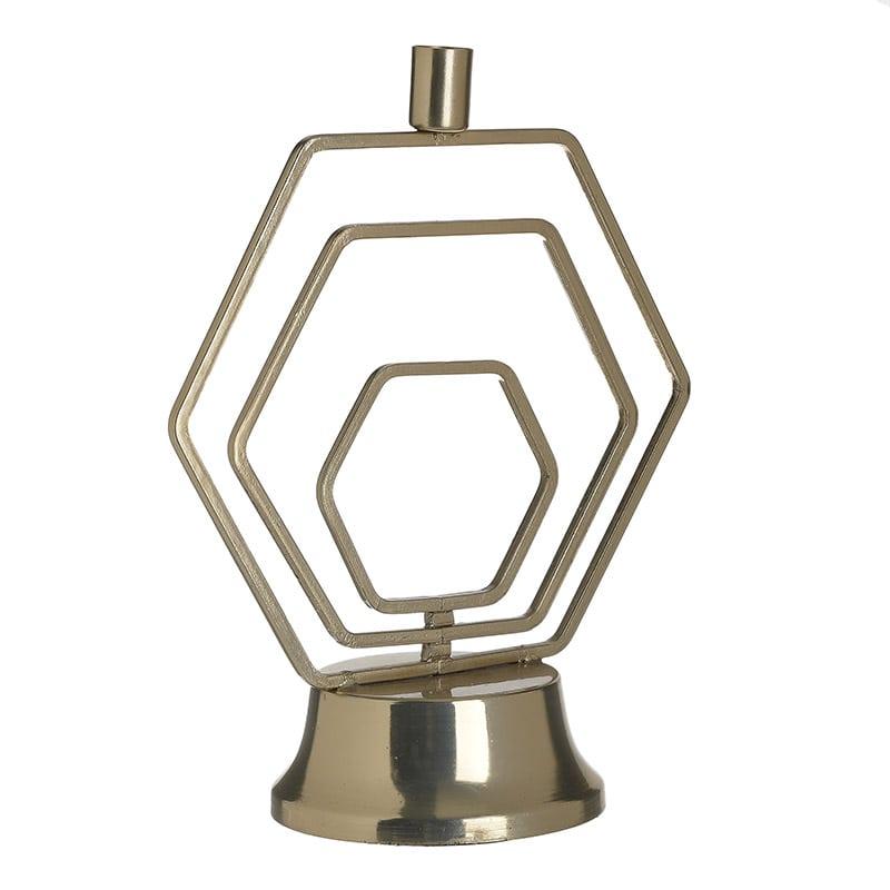 Κηροπήγιο 3-70-983-0017 inart Μεταλλικό Χρύσο 24x12x29cm