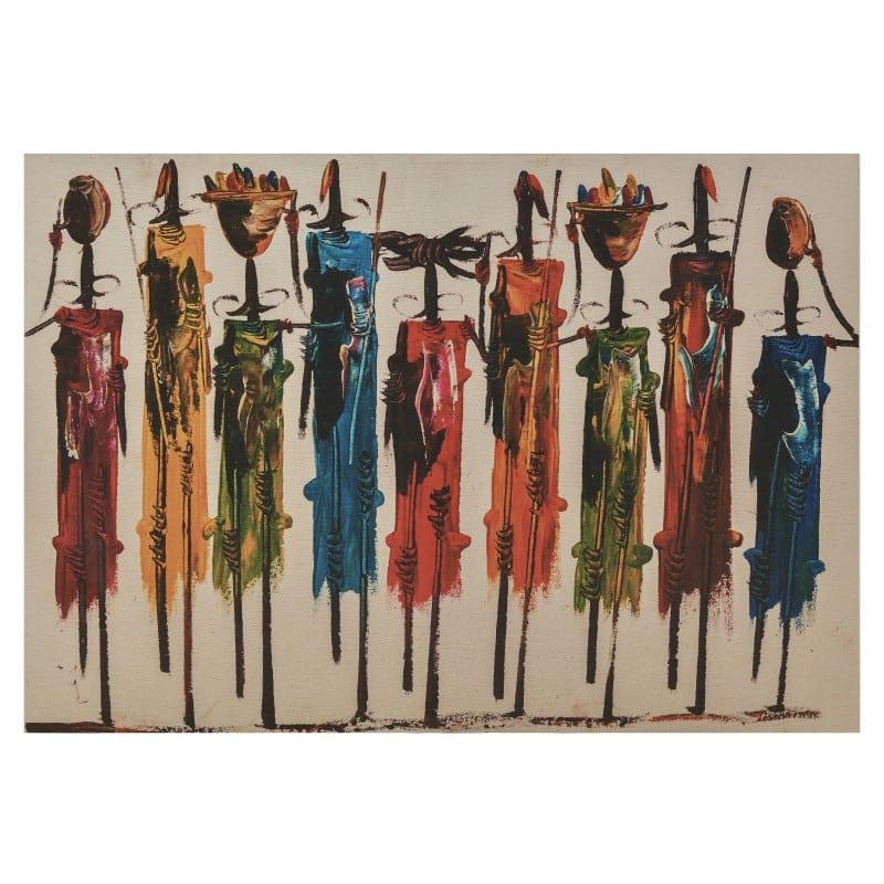 Πίνακας Καμβάς 3-90-011-0003 inart Canvas Πολύχρωμο 130x3x90cm