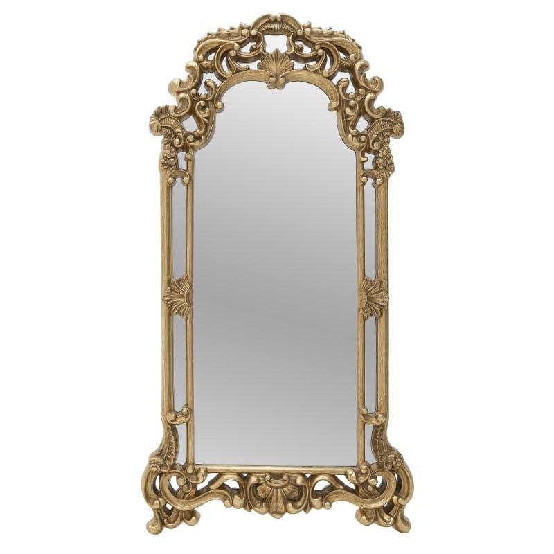 Καθρέπτης Τοίχου 3-95-297-0037 inart Πολυρεζίν/Γυαλί Χρύσο 63x5x120cm